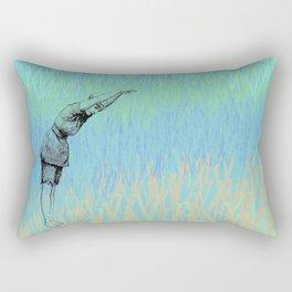 Swimmer ~ The Summer Series Rectangular Pillow
