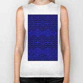 2305 Pattern blueblack Biker Tank