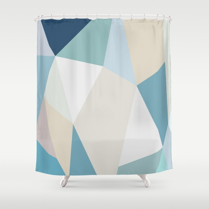 SPRING LOVE { BLUE } Shower Curtain