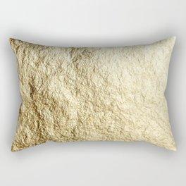Crinkled Gold Rectangular Pillow