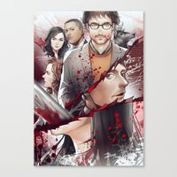 hannibal Canvas Prints featuring Hannibal by Drag Me To Work