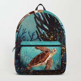 Metallic Sea Turtle Backpack