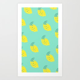 Yellow lemon Art Print