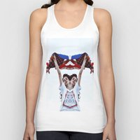 american flag Tank Tops featuring AMERICAN by Paparrazzi666