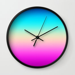 Colorful Gradient Wall Clock