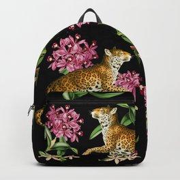 Leopard black Backpack