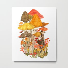 The Mushroom Gatherers  Metal Print