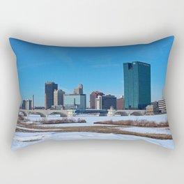 Toledo Skyline in Winter II Rectangular Pillow
