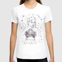 lungs T-shirts featuring Lungs by Sarah Hartnell