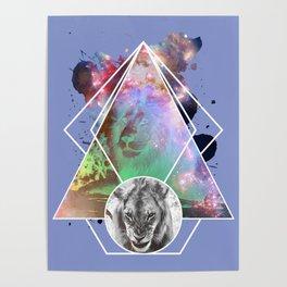 Art Lion Poster