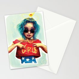 Wonder girl Stationery Cards
