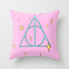 Harry potter // pastel deathly hallows Throw Pillow
