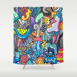 NATURAL DISASTER Shower Curtain