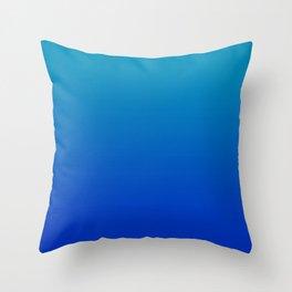 Ombre Hawaiian Ocean Blue Zaffre Gradient Motif Throw Pillow
