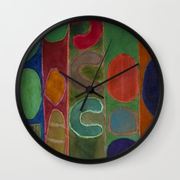 Bizarre Forms in Stripes Wall Clock