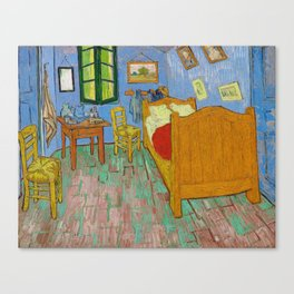 The Bedroom by Vincent Van Gogh Canvas Print