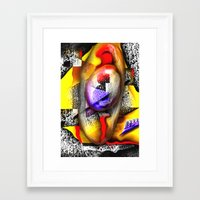 fabric Framed Art Prints featuring Fabric by John Hansen