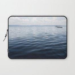 calm blue water Laptop Sleeve