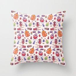 Beetle - pastel Throw Pillow