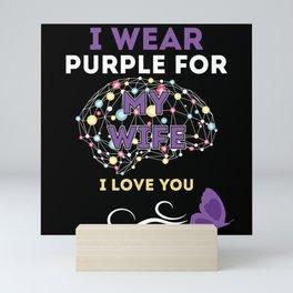 I Wear Purple For My Wife Mini Art Print