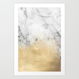 Gold Dust on Marble Kunstdrucke