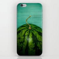 watermelon iPhone & iPod Skins featuring Watermelon by Olivia Joy StClaire