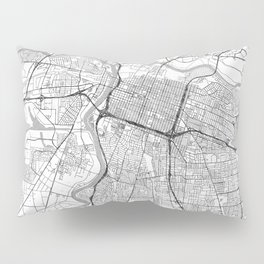 Sacramento Map Line Pillow Sham