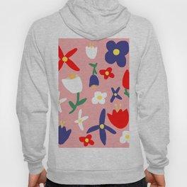 Large Handdrawn Bacchanal Floral Pop Art Print Hoody