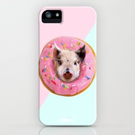Pig Strawberry Donut iPhone Case