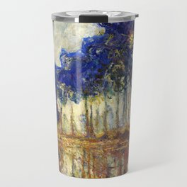 Poplars on the Bank of the Epte River by Claude Monet Travel Mug
