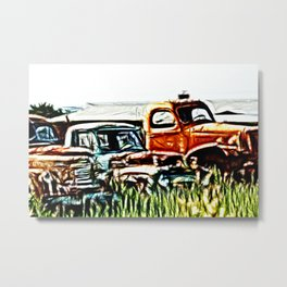 Trucking around Metal Print