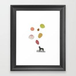 the thinking dog Framed Art Print