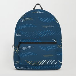 Waves / Tiger (stylized pattern) 28 Backpack