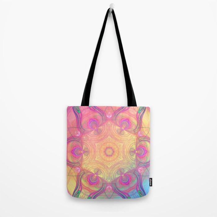 Psychedelic Kaleidoscope Tote Bag
