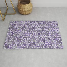 Faux Stone Mosaic in Lavender Rug