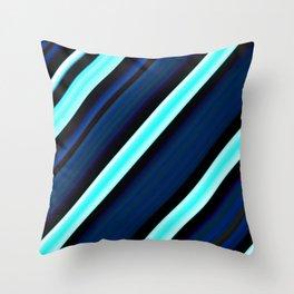 Pretty Blue Striped Pattern Throw Pillow
