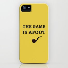 The Sherlock Holmes Quote II iPhone Case