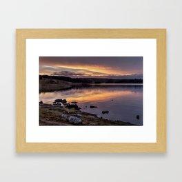 The Derwent Reservoir at sunset Framed Art Print