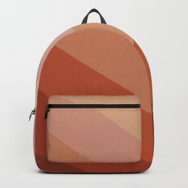 Chevron Geometry 3. Terracotta Backpack
