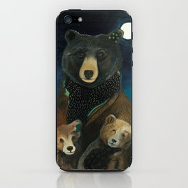 Mama Bear at Night iPhone Skin