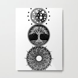 EP. MOON / LIFE / SUN Metal Print