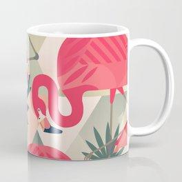 Retro Flamingo Patter Coffee Mug