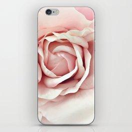 Shabby Chic Pastel Pink Rose iPhone Skin
