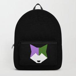 Genderqueer pride wolf Backpack