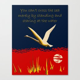 Ambition or trumpeter swan Canvas Print