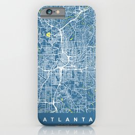 ATLANTA Map Georgia   Blue Color   More Colors, Review My Collections iPhone Case