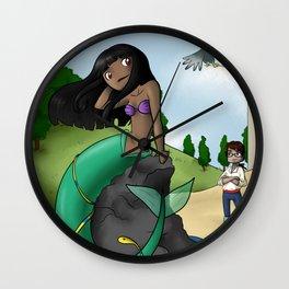 Little mermaid naga Wall Clock