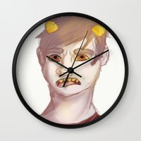 homestuck Wall Clocks featuring Karkat by Gin and Cats