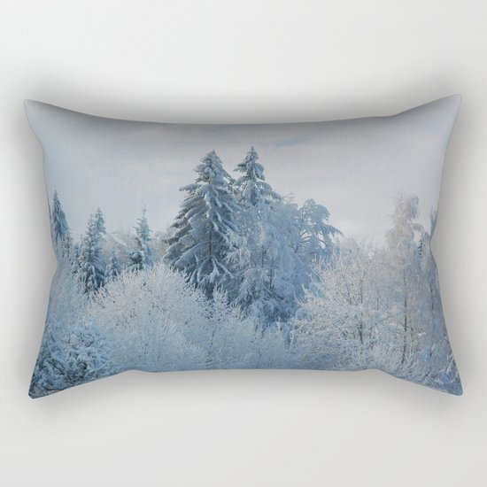 After the snowfall Rectangular Pillow