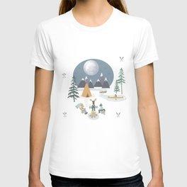Camp Sleepy Moon (Large Print) T-shirt